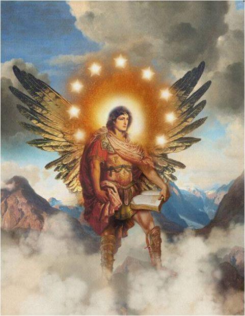 Llama del oro rubi. Arcangel Uriel