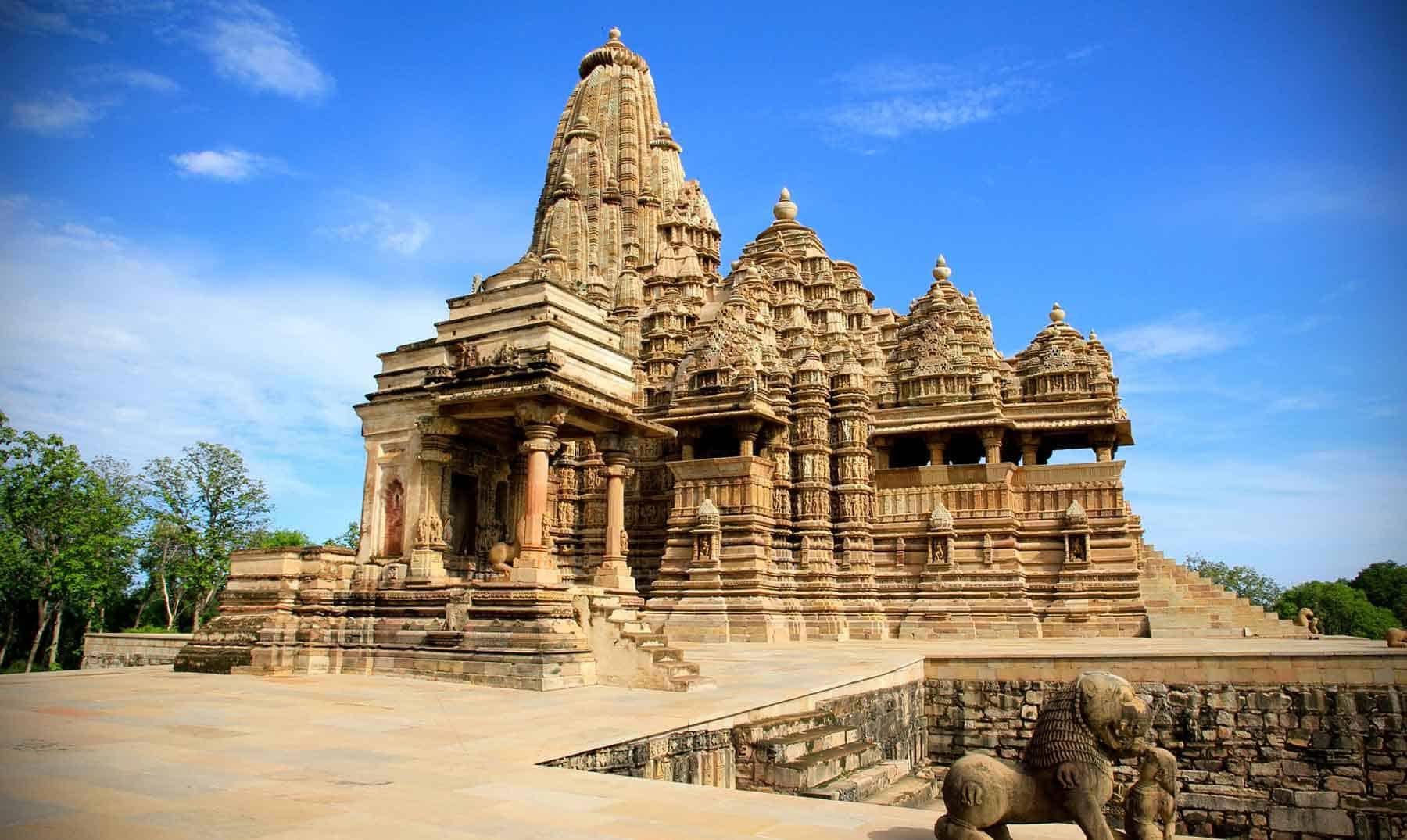 Los templos del sexo sagrado están ubicados en Madhya Prades, India.