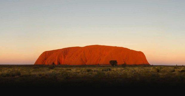 Uluru-Kata Tjuta está representado por el color amarillo.