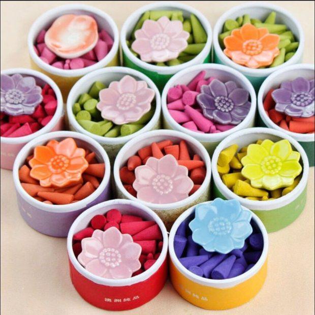 El incienso cono se puede realizar de forma casera y sus aromas pueden mezclarse según el gusto de cada persona.