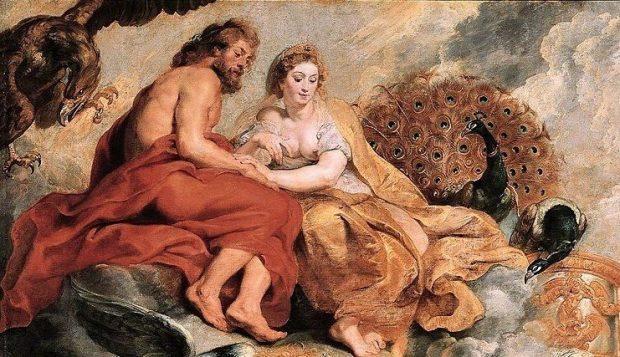 Jupiter y Juno, por Peter Paul Rubens.