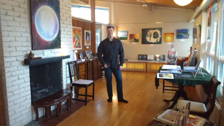 Alberto  y exposición de cuadros