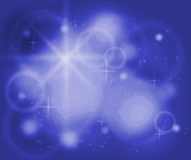 Abstract chakra background - blue color illustration