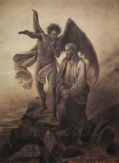 Tentación de Cristo Vasily Surikov 1872 NCSJB