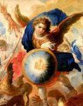 hermandadblanca org arcangel miguel con escudo 235×300.jpg - Tú, en tu humanidad, eres la clave ~ Arcángel Miguel via Meredith Murphy - hermandadblanca.org