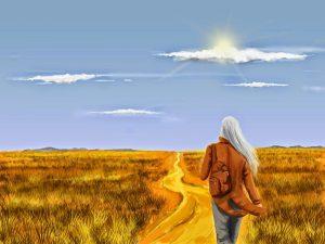 caminar en el campo. (1)