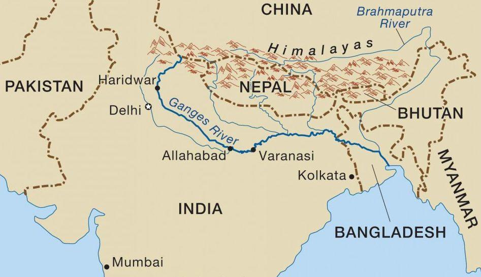 El río Ganges, en viajes espirituales