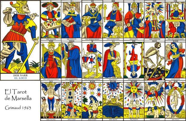 Tarot de marsella adaptación de Cartas