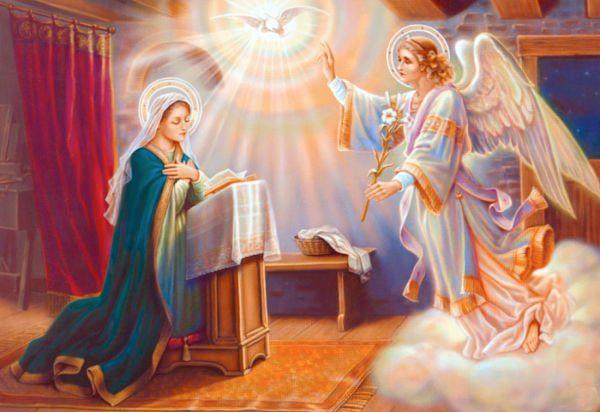 El Ángel Gabriel y Maria