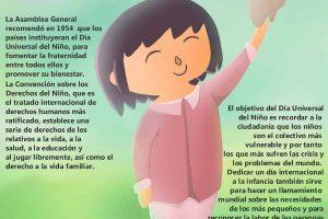 Infografía: Día Universal del Niño 20 de Noviembre.