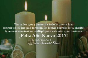 ¡Gracias por compartir el 2016 y los mejores deseos para el 2017!, familia de hermandadblanca.org