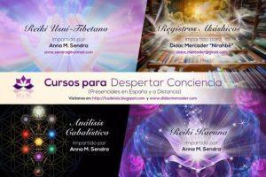Cursos para despertar conciencia (Presencial y a Distancia), Registros Akáshicos, Análisis Kabalístico, Reiki Usui-Tibetano y Karuna 2017