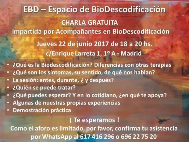 20170619 jorge id127890 charla gratuita db espacio azul biodescodificacion madrid escuela fran charla 2017 06 22 V2 - Charla gratuita: DB Espacio Azul – Biodescodificación en Madrid (escuela francesa) Madrid - 22 junio 2017 - hermandadblanca.org
