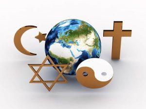 Religious symbols of our planet. 3D image - hermandadblanca.org