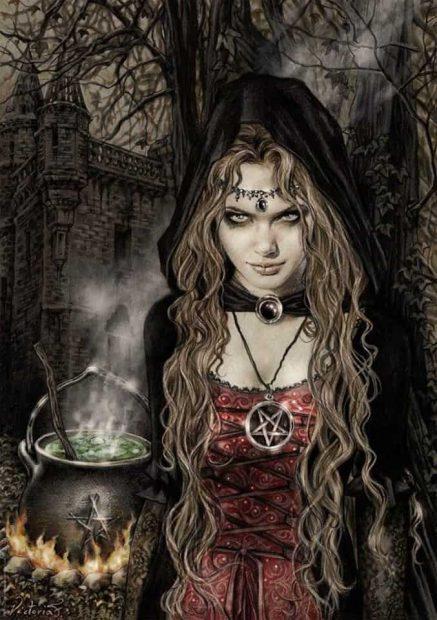 20170927 rosa id132851 el tao del diablo  brujas con caldero - Tarot y MTC: El Tao de La Templanza y  El Tao del Diablo - hermandadblanca.org