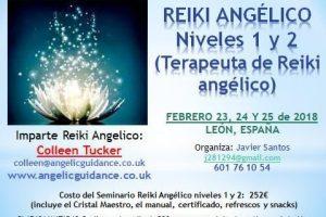 Reiki Angelico – Niveles 1 y 2 – (Terapeuta de Reiki Angelico) – Febrero 23, 24 y 25 de 2018 – León, España