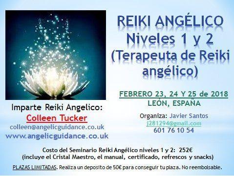 20180117 jorge id137100 reiki angelico carteles 1 2 - Reiki Angelico - Niveles 1 y 2 - (Terapeuta de Reiki Angelico) - Febrero 23, 24 y 25 de 2018 - León, España - hermandadblanca.org