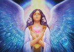 hermandadblanca org angel anael alas violeta amor corazon 620×436.jpg - Mensaje Arcángel Anael: Aquí estamos para proteger su planeta y a cada ser vivo que habita en él - hermandadblanca.org