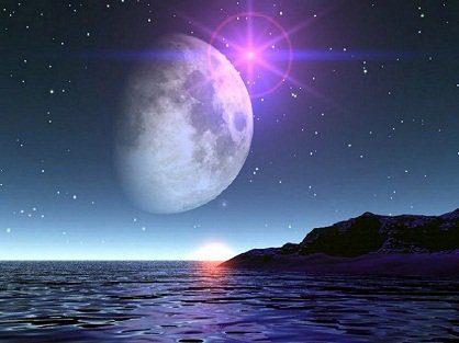 id146537 lune sur mer - Mensaje de Seres de Luz, canalizado por Anne: La luna nos quiere decir algo - hermandadblanca.org