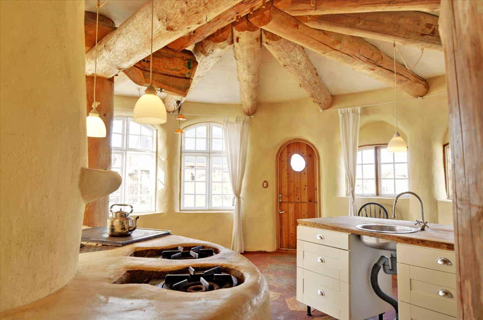 interior de una casa sostenible