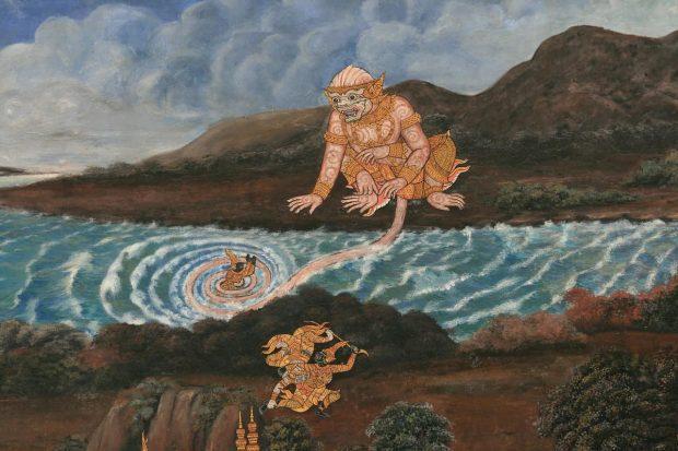 pinturadehanuman ¿quien es el dios hanuman? ID154913 - hermandadblanca.org