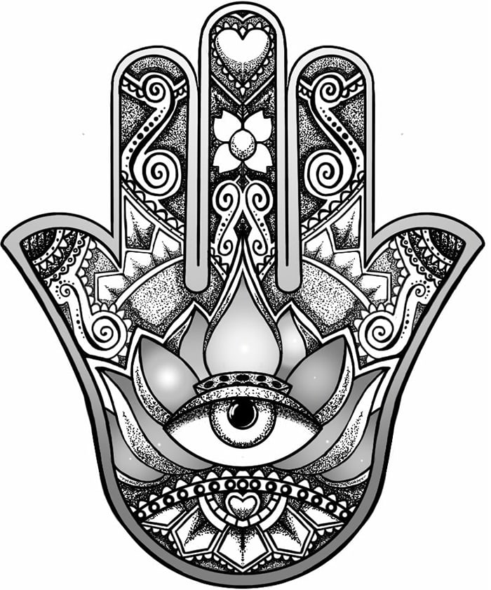 hamsa símbolos energéticos positivos, ¡símbolos sagrados para el poder p ID208885 - hermandadblanca.org