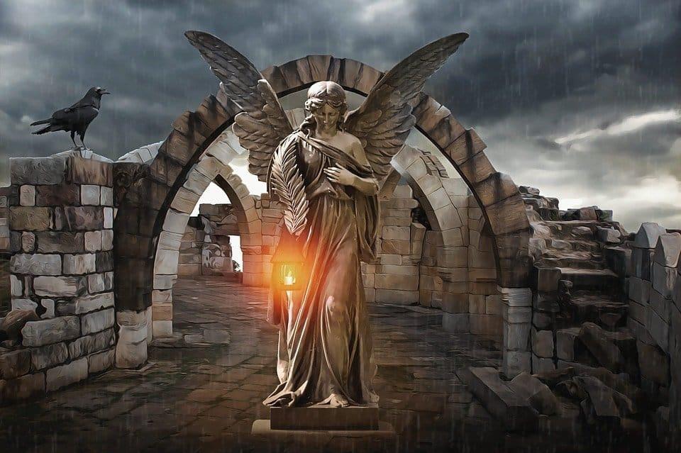 angel en medio de ruinas anna bonus kingsford los tres velos entre el hombre y dios 1 i211861