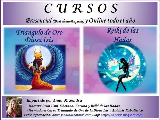 flyer up cursos reiki hadas triangulo oro diosa isis presencial barcelona onlin i214345