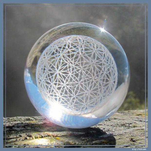 esfera flor de la vida cristales de litios cristales de litios nueva generacion de cristales luminosos i227694