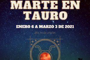 Influencias de la entrada de Marte en Tauro