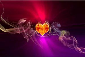 Enfocando el rayo magenta en tu corazón